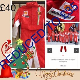 Ferrari racing suit perfect children's Christmas present