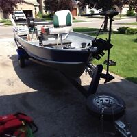 14'york river aluminum boat trailer and motor