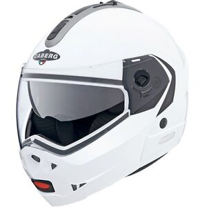 CABERG KONDA GLOSS WHITE MOTORCYCLE HELMET + FREE UK DELIVERY - EXTRA SMALL XS