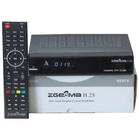 Skybox zgemma dual core H2.S+24 months gift all CHanels +free wifi dongle