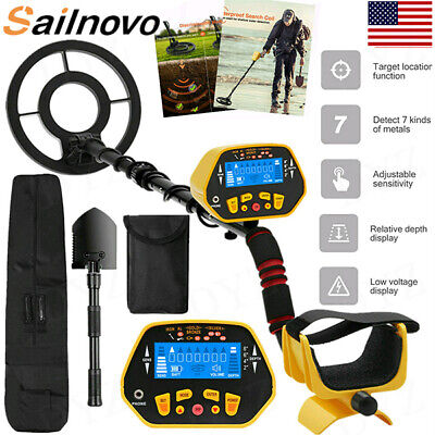 Deep Ground Metal Detector Gold Finder Lcd Display W Waterproof Search Coil-new