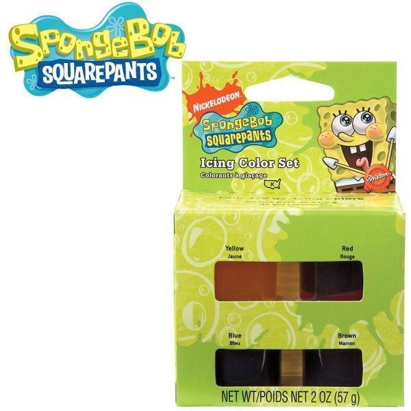 SpongeBob Icing 4 Color Set from Wilton 5130 New