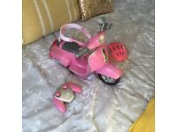 Baby born remote controlled scooter
