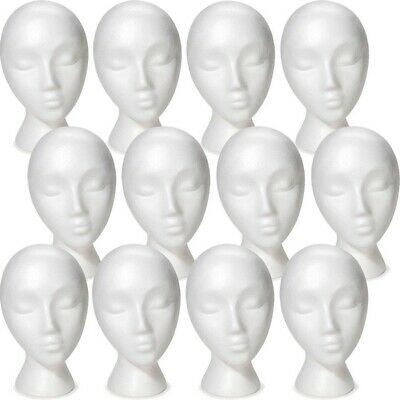 Less Than Perfect Mn-324 12 Pcs Female Abstract Styrofoam Mannequin Head