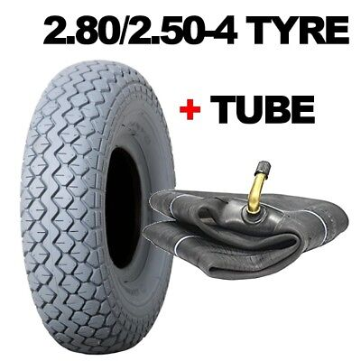 2.80/2.50-4 Mobility Scooter Tyres Grey Tyre NONE MARKING Plus Tube 2.80 2.50 4