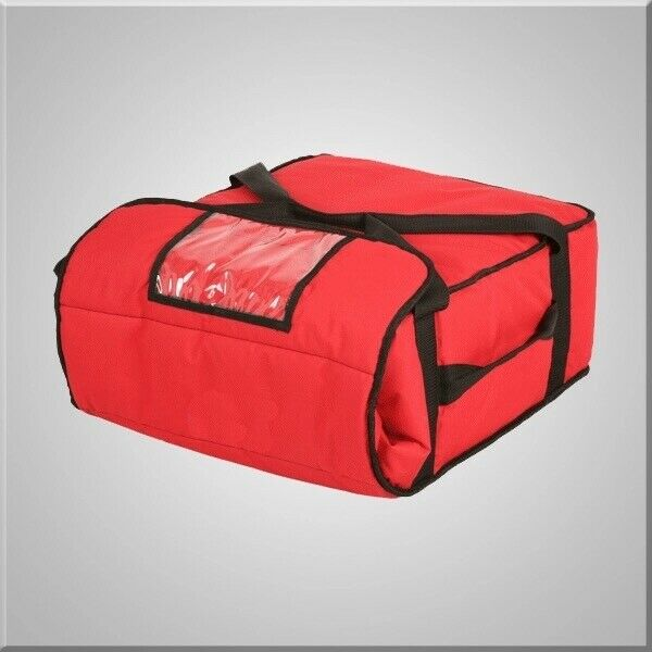 "Pizza Delivery Bag Thick Insulated(Holds upto Five 16"" or Four 18"" Pizzas) Red"