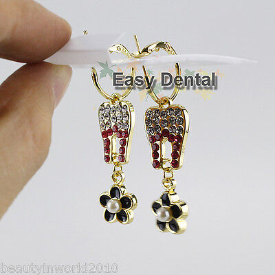 3 Pairs Molar Shaped Tooth Earrings Dentist Dental Hygienist Clinic Nurse Gift