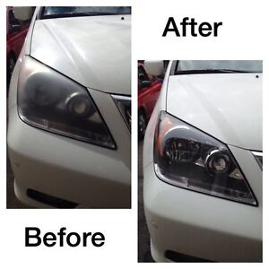 Headlight restoration and scratch removal