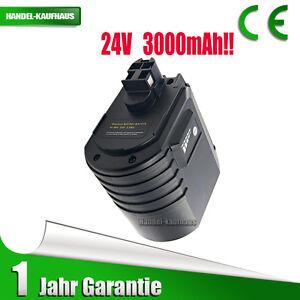 24V 3000mAh Ni-MH Akku für Bosch 11225VSRH GBH 24VRE GBH24VRE 2607335215 Schwarz