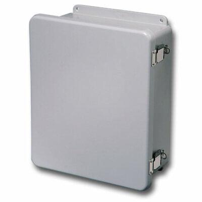 Stahlin Electrical Fiberglass Enclosurebox J100806hpl 10x8x6 With Back Panel