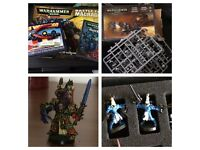 Warhammer 40,000 battle for maccrage space marines and tyranids plus basics eldar pieces.