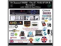 8 Channel 960H HD - Onvif - AHD - NVR - IP - DVR Recorder