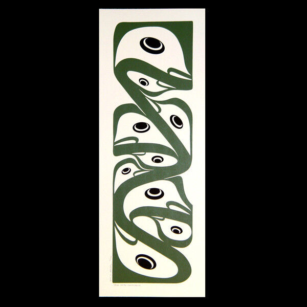 Abstract Frogs Ltd Ed Print Northwest Coast Native Serigraph Signed Steve Smith