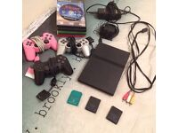 SONY PS2 SLIMLINE CONSOL BUNDLE WITH EYE TOY AND GAMES