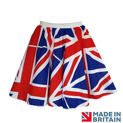 St GEORGES DAY Costume FLAG UK UNION JACK Pattern Circle Skirts Dance Costume - Dance Patterns Kostüm