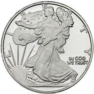 1/2 oz Pièce d'Argent Pur Walking Liberty Fine Silver Coin