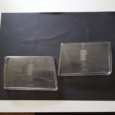 Für Mercedes R107 SL SLC 2 Scheinwerfer + Nebel Streuscheiben Glas NEU