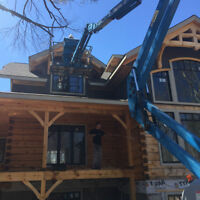 LOG HOME FINISH REMOVAL