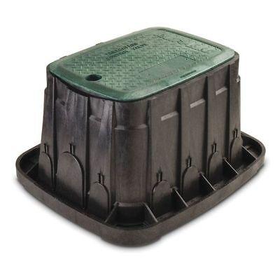 "Valve Box,12"" Rectangle w/Green Lid RAIN BIRD VBREC12"