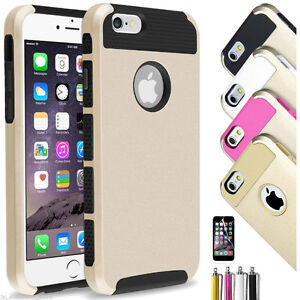 Gold Black iPhone 5 5S 6S Bumper Cover Case Shockproof Dirt Dust