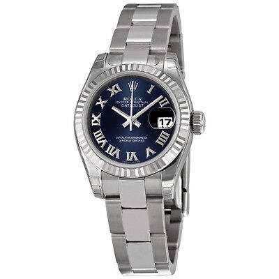 Rolex Lady Datejust 26 Blue Dial Stainless Steel Rolex Oyster Automatic Watch