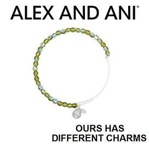 NEW ALEX AND ANI ROCK CANDY BANGLE JEWELLERY - JEWELRY - BRACELET - MOSS SILVER 103002070