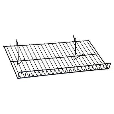 New Black Sloping Shelf Fits Slatwallgridpegboard 23-12w X 12d