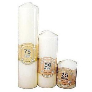 CHOICE OF 6 CREAM IVORY PILLAR CHURCH CHUNKY CANDLES UNSCENTED CANDLE