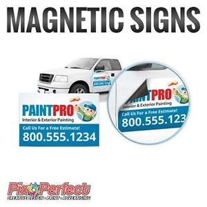 Drive Your Advertisements Around Town with Magnetic Signs | PixoPerfect.com
