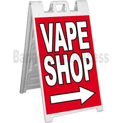 Signicade Vape Shop A-frame Sign Sidewalk Pavement Banner Street Sign - Rb