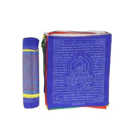 "Tibetan Medicine Buddha Prayer Flag (25 Flags) 8""W, 9.5""L US Seller"