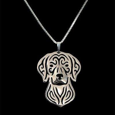 Vizsla Dog Pendant Necklace Silver ANIMAL RESCUE DONATION