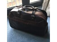 Leather Travel Bag with wheels