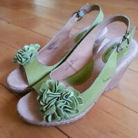 NEW Womens Size 7 - Olive Green BORN Sandals