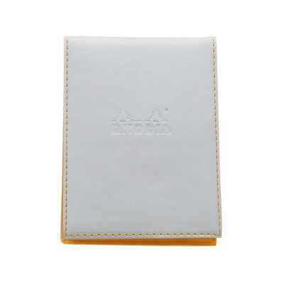 Rhodia Pad Holder - Silver - Lined Pad With Pen Loop - 3.75 X 5.5