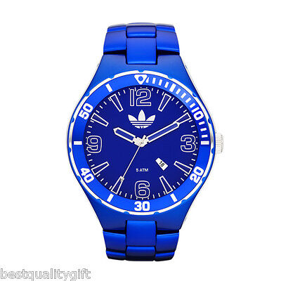 ADIDAS CAMBRIDGE BLUE ALUMINUM MEN WATCH+DATE ADH2684-MSRP$195+BOX
