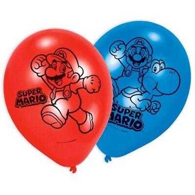 Super Mario Luftballons, 6er Pck