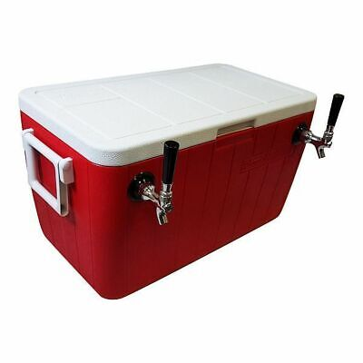 Ny Brew Supply Jockey Box Cooler - 2 Faucet 38 X 50 Stainless Coils 48qt