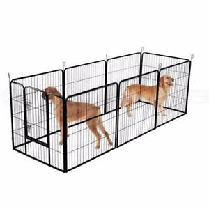 Dog Kennel Dog Run Playpen Portable Exercise Cage Fence Enclosure
