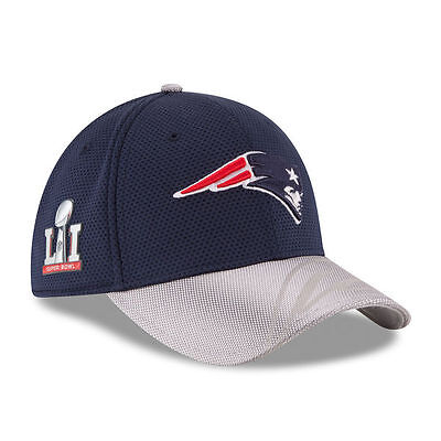 New England Patriots 2017 NFL Super Bowl New Era 39THIRTY Fitted Cap Hat - S/M
