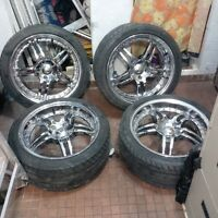 """18"""" IKON CHROME RIMS WITH TIRES $500 FIRM"""