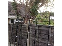 3 wrought iron fence panels