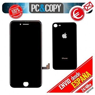 Pantalla LCD + Tapa trasera bateria iPhone 8 de 4,7 negra Calidad...