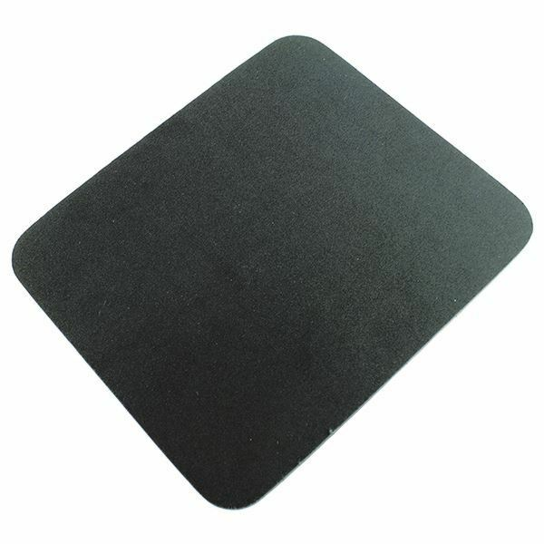 Q-Connect Black Economy Mouse Mat, Angled to give maximum comfort [KF04517]