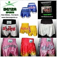 BENZA MUAY THAI SHORTS ON SALE STARTING AT $19.99!!