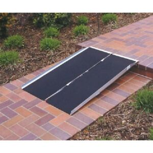 8ft multi fold ramp for wheelchair, anti slip top, 600 lb capaci