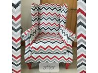 Upholstery & Soft Furnishings service - chairs / seats / kitchen / curtains / blinds