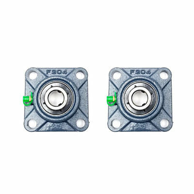 2x Ucf204-12 34 Square 4 Bolt Flange Bearing