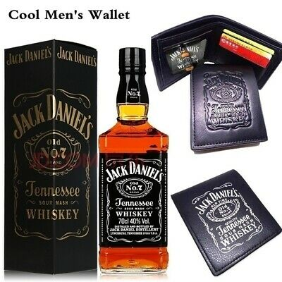 JACK DANIELS LEATHER WALLET-BILL BI-FOLD FREE SHIPPING FROM USA