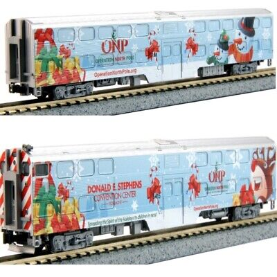Kato 106-2016A N 2016 Operation North Pole Christmas Train 2-Unit Add-On Set